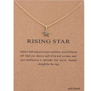 ⭐️ 14k Gold Dipped Rising Star Necklace ⭐️